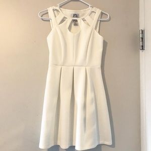 White dress with neck/chest cut outs